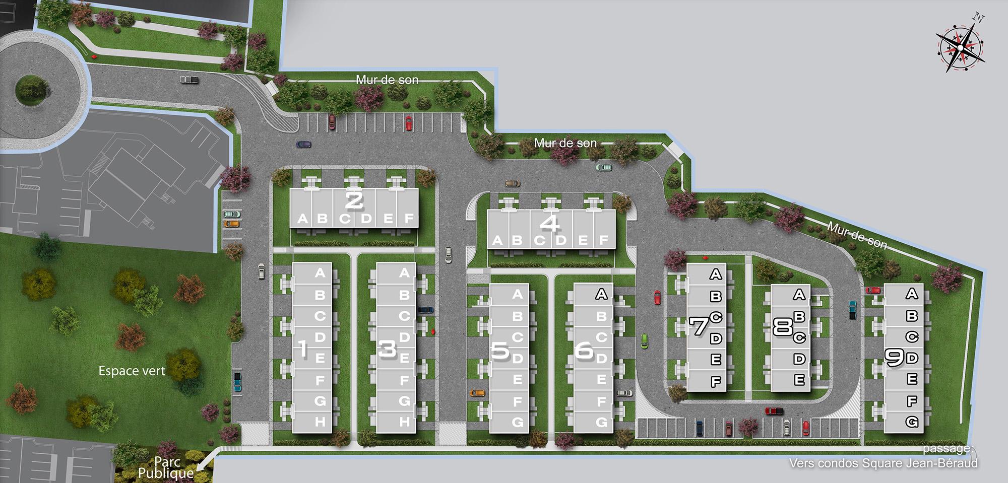 Maisons de ville à vendre Chomedey Laval - Métrocité