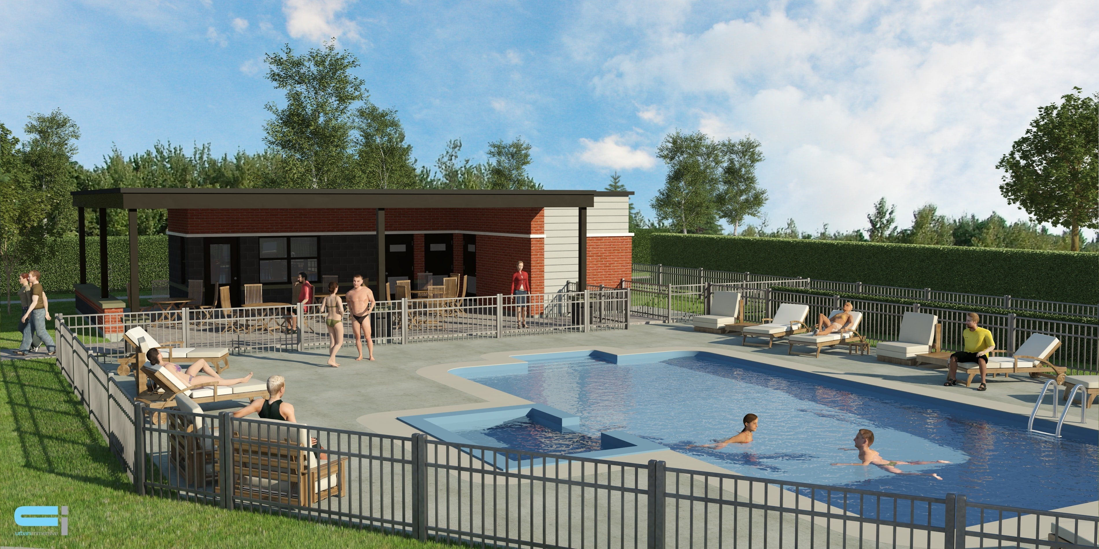 Projet square jean beraud phase e m trocit laval for Club piscine plus cppq laval